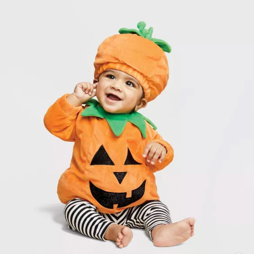 Baby Pullover Pumpkin Costume with Hat — Hyde & EEK! Boutique