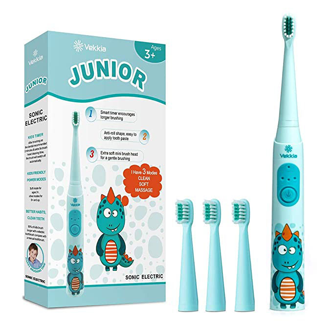 Vekkia Sonic Rechargeable Kids Electric Toothbrush