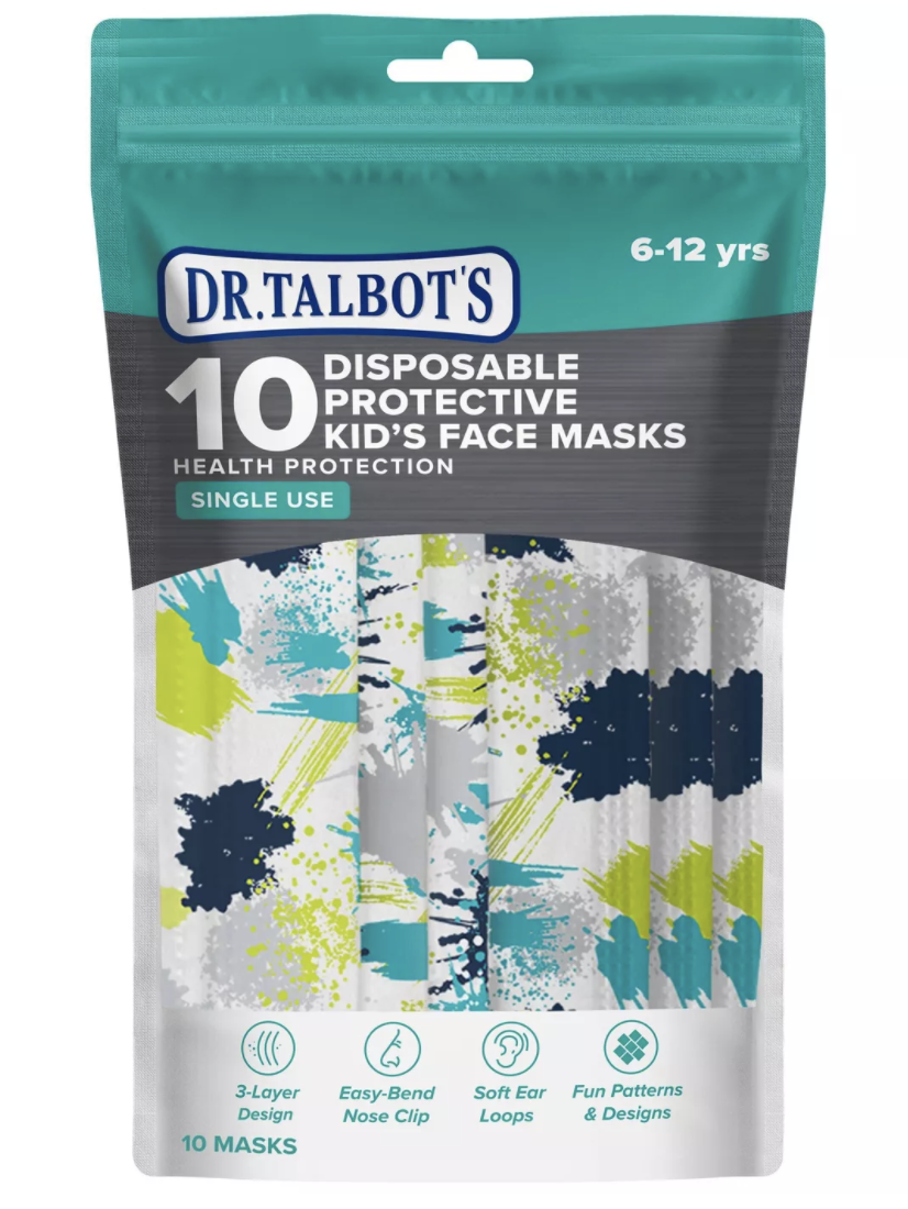 Dr. Talbot's Disposable Kid's Face Masks (Pack of 10)