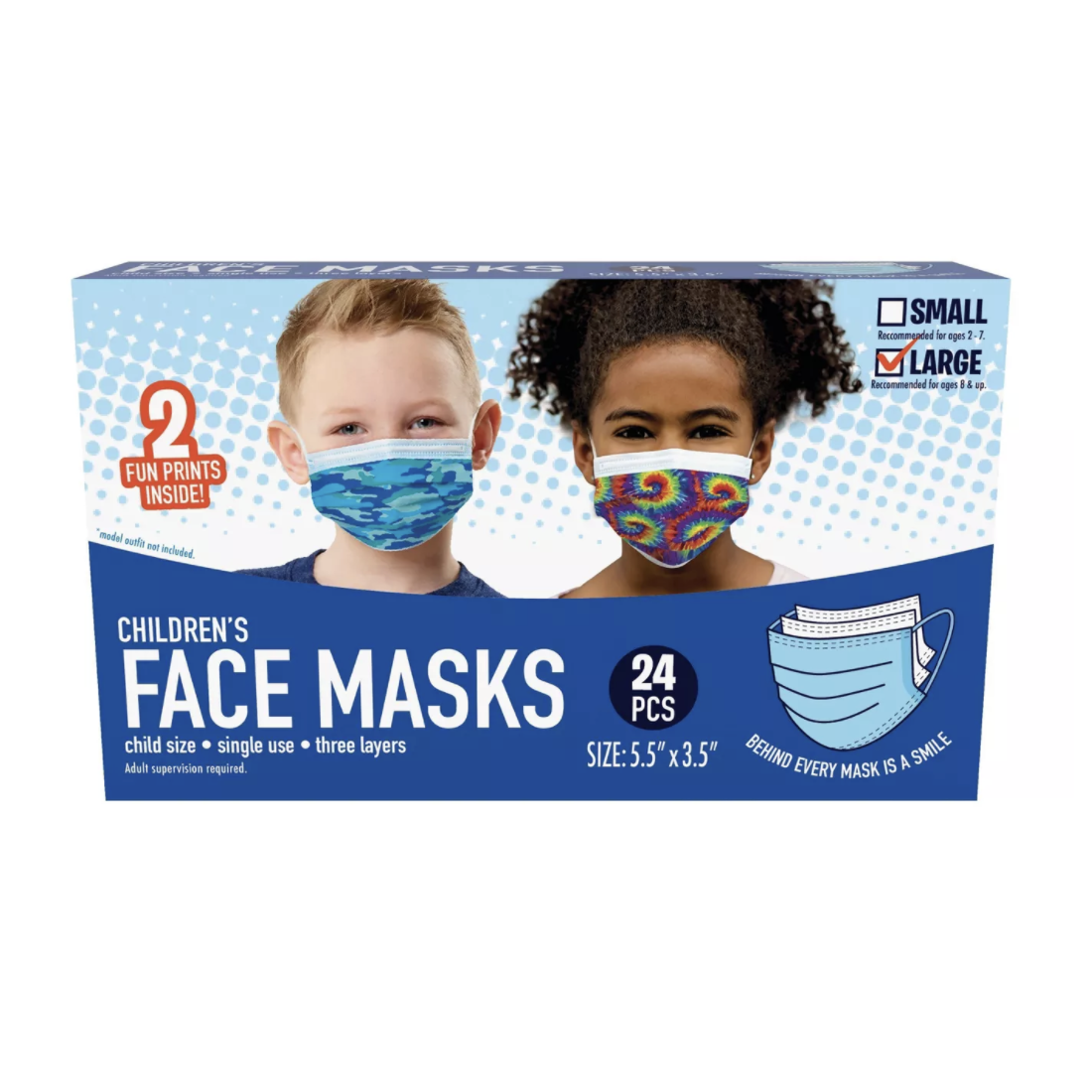 Just Play Kid's Single-Use Face Mask (Pack of 24)