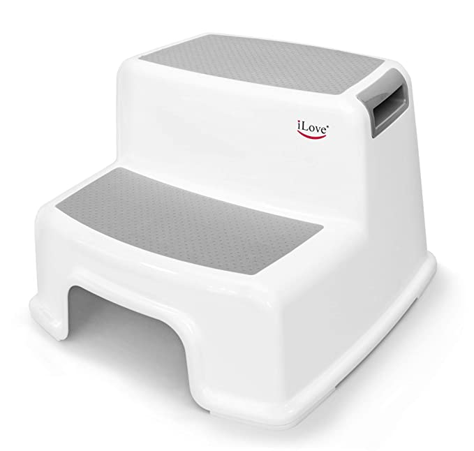 Wide+ 2 Step Stool for Kids