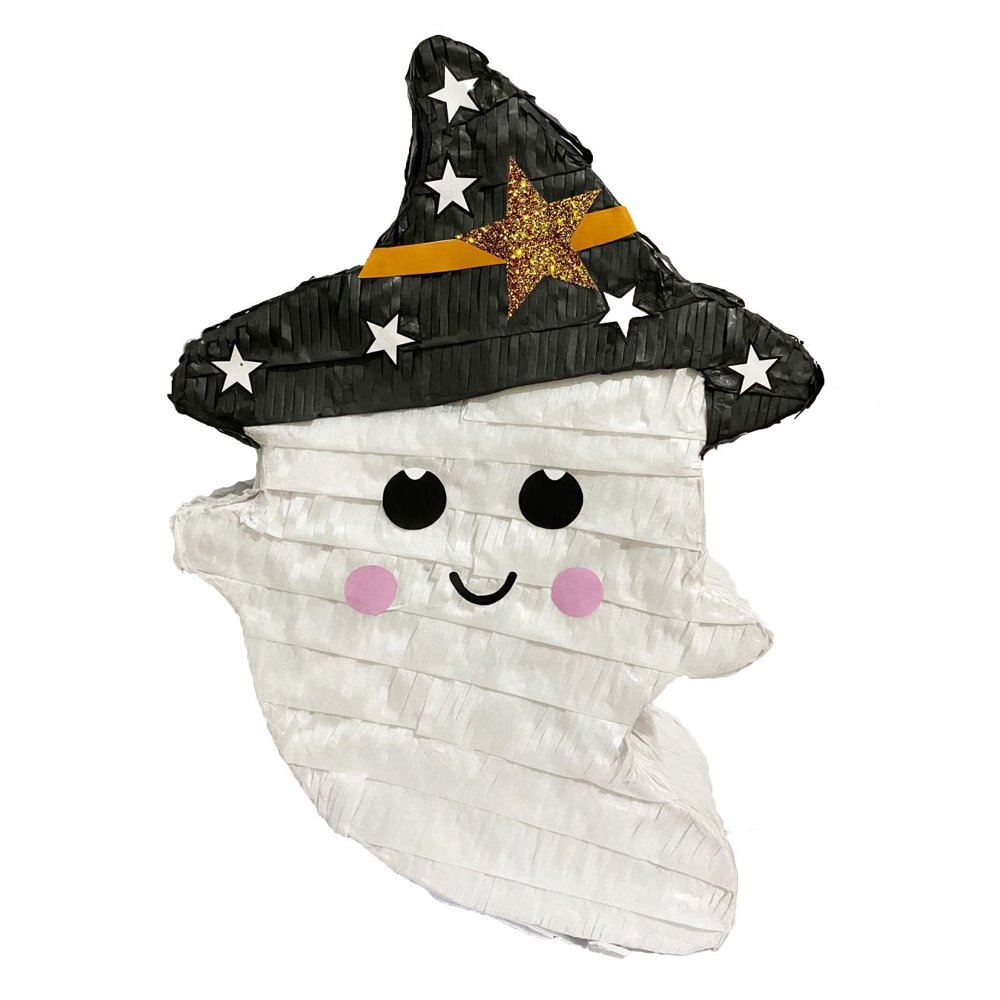 Ghost with Witch Hat Piñata