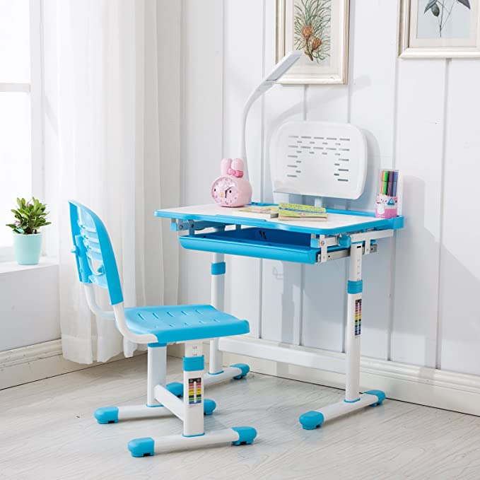 Mecor Children Adjustable Kids Study Table and Chair Set