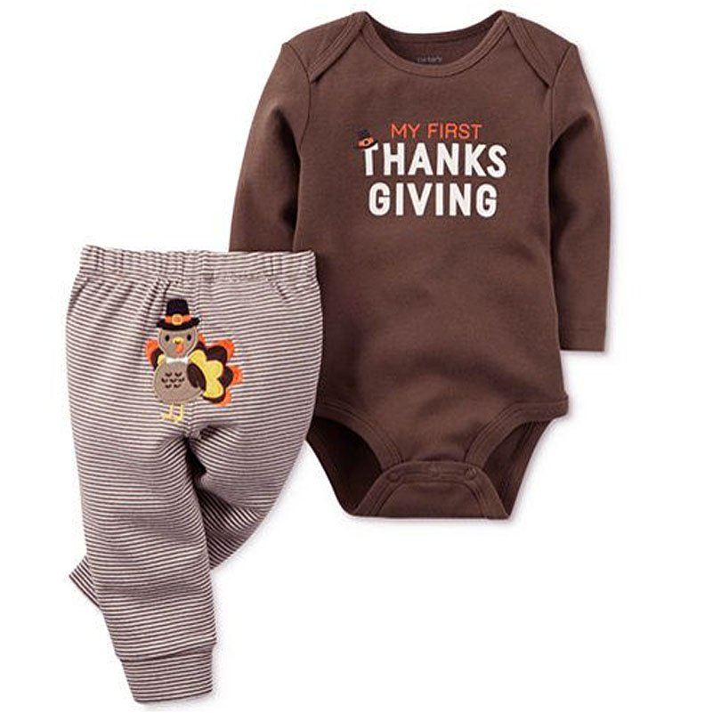 Canis Thanksgiving Day Baby Boy Set