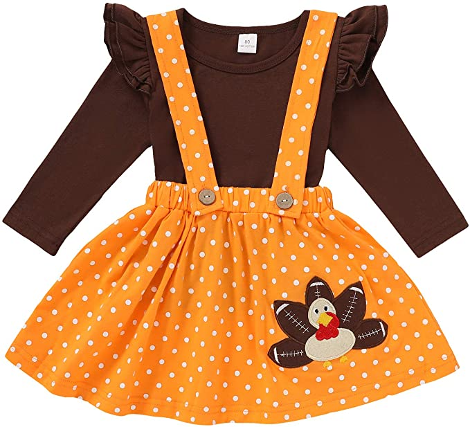 3-Piece Toddler Girl Thanksgiving Outfit