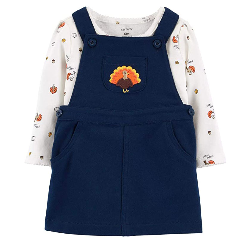 Carter's Baby Girls 2-Piece Thanksgiving Bodysuit and Jumper Set
