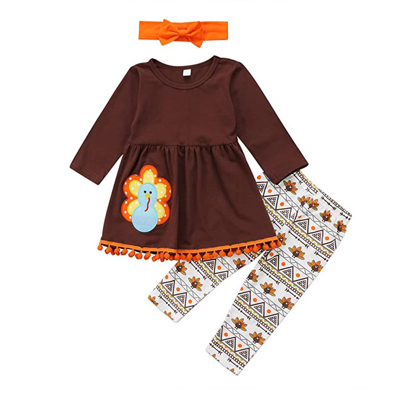 Enhill Kids Baby Girls' Thanksgiving Outfit