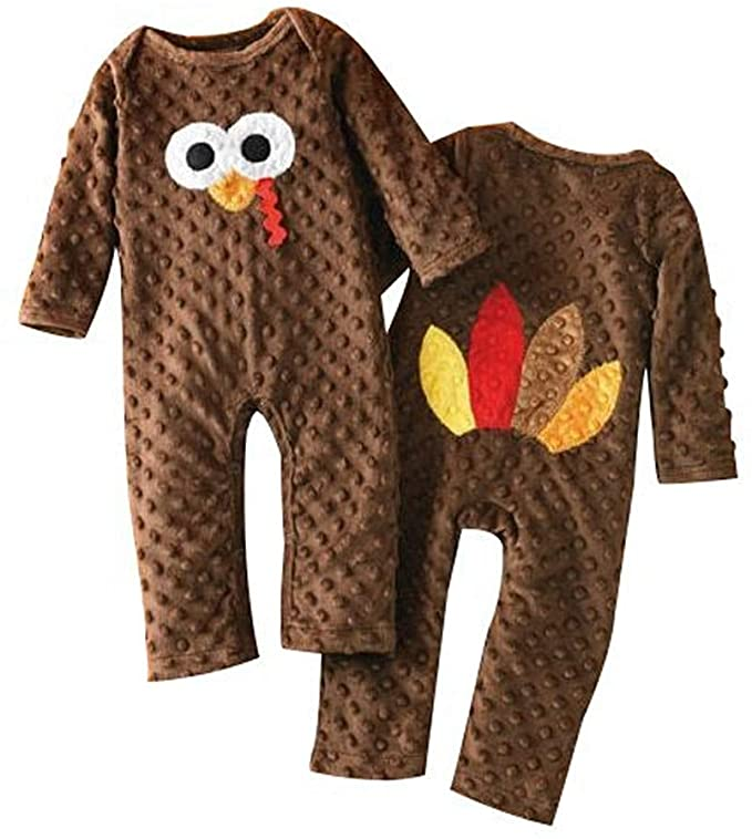 Fiomva Newborn Thanksgiving Romper