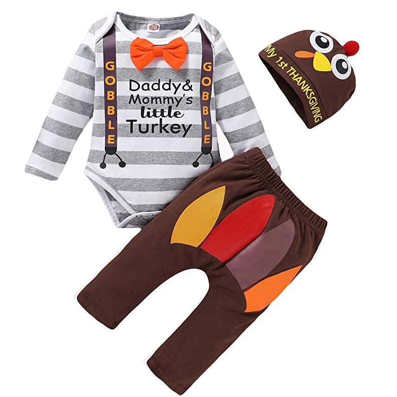 Baby Boy Thanksgiving Outfit 3-Piece Set