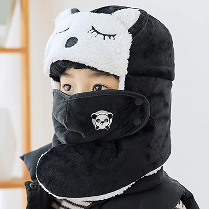 Kids Ski Hat - Winter Face Protection