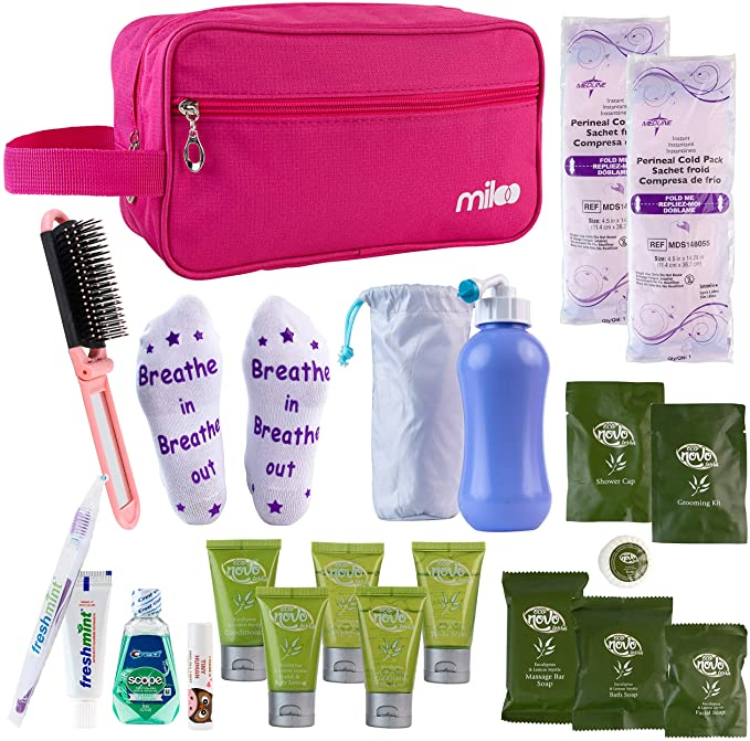 Miloo Mom Hospital Labor and Delivery Gift Packing Kit for Delivery, Postpartum