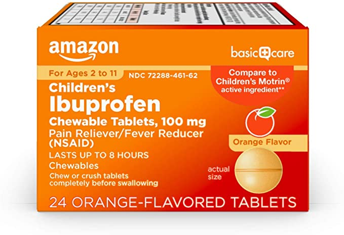 Amazon Basic Care Children's Ibuprofen Chewable Tablets