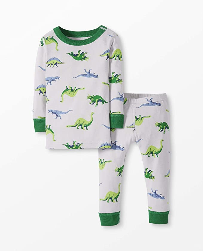 Moon and Back by Hanna Andersson Kids' 2 Piece Long Sleeve Pajama Set