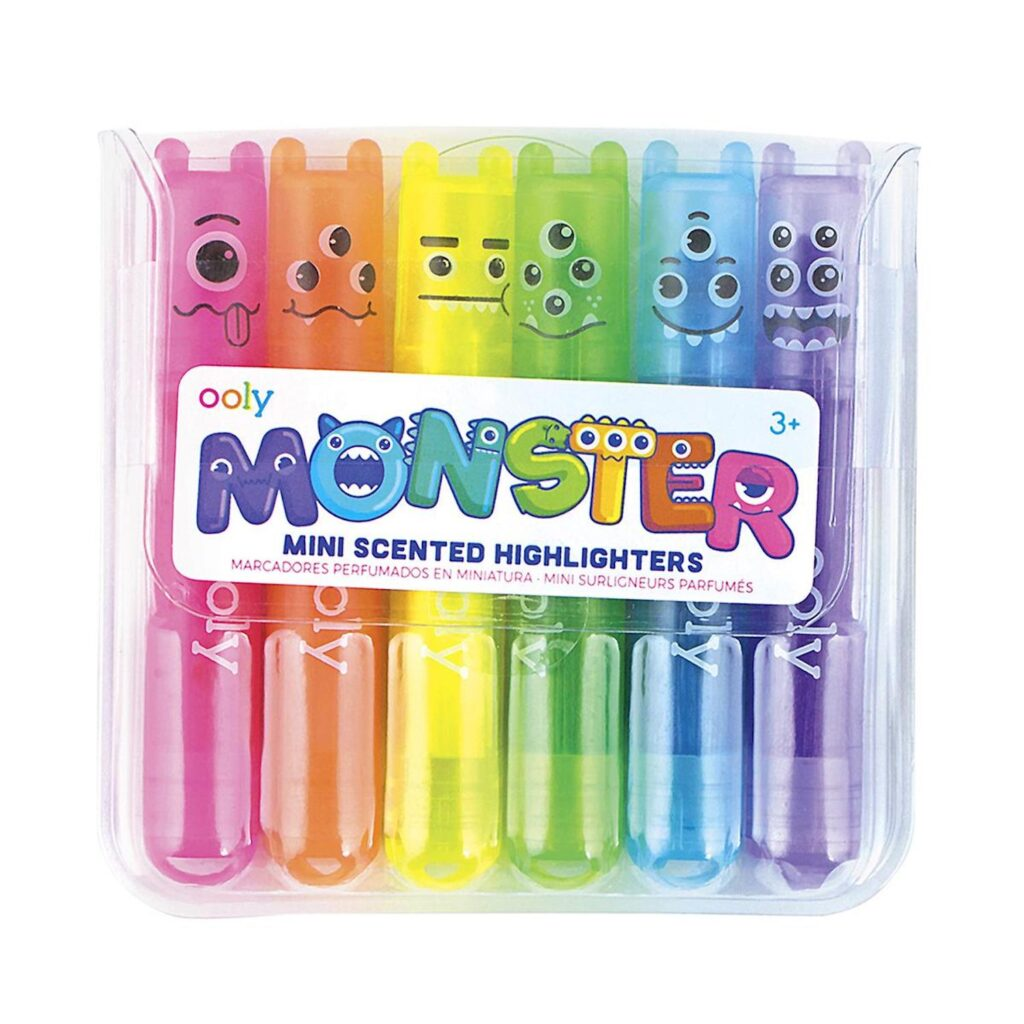 Back to School Sales and Deals on School Supplies Ooly Monster Mini Scented Highlighters