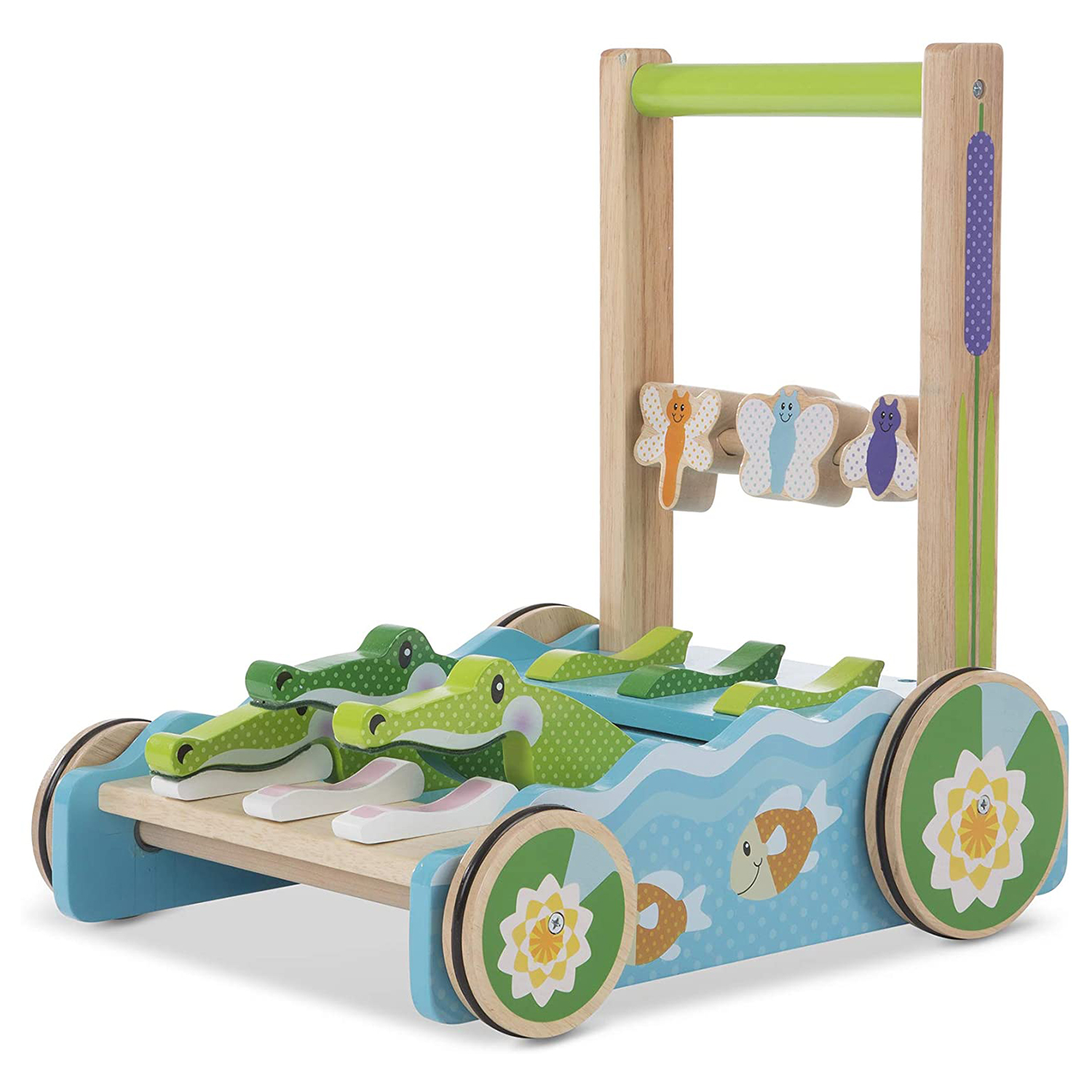 Best Wooden Baby Toy: Melissa and Doug Chomp and Clack Alligator Push Toy