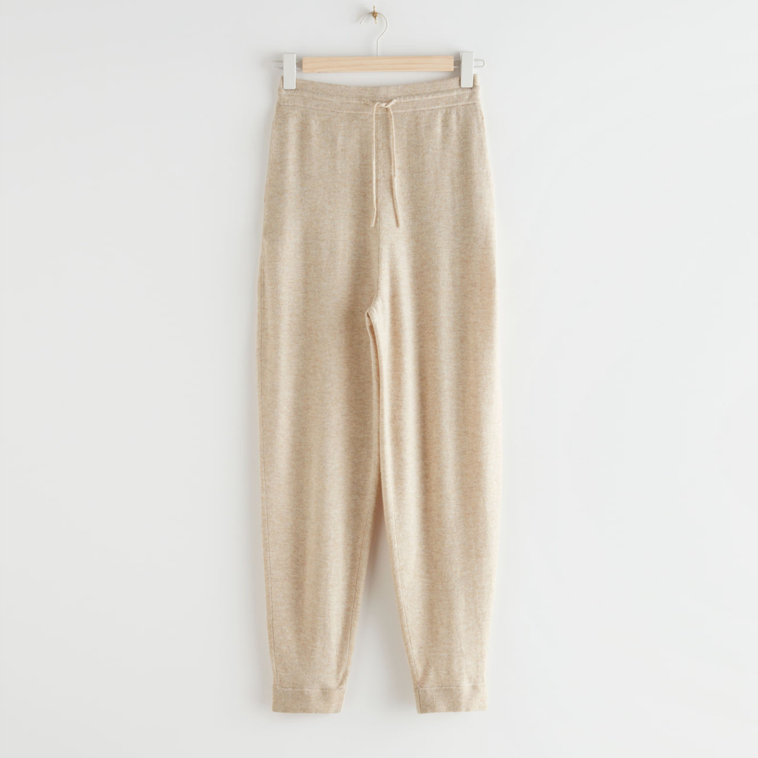 & Other Stories Oversized Wool Knit Drawstring Trousers