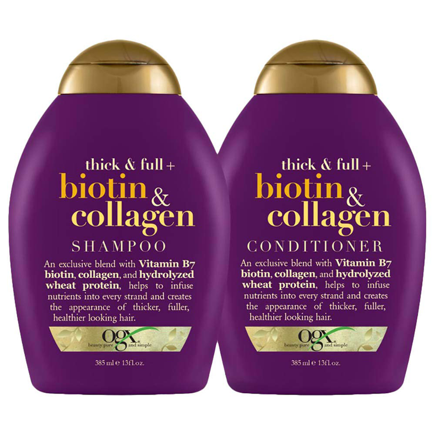 OGX Thick & Full Biotin & Collagen Shampoo (and Conditioner)