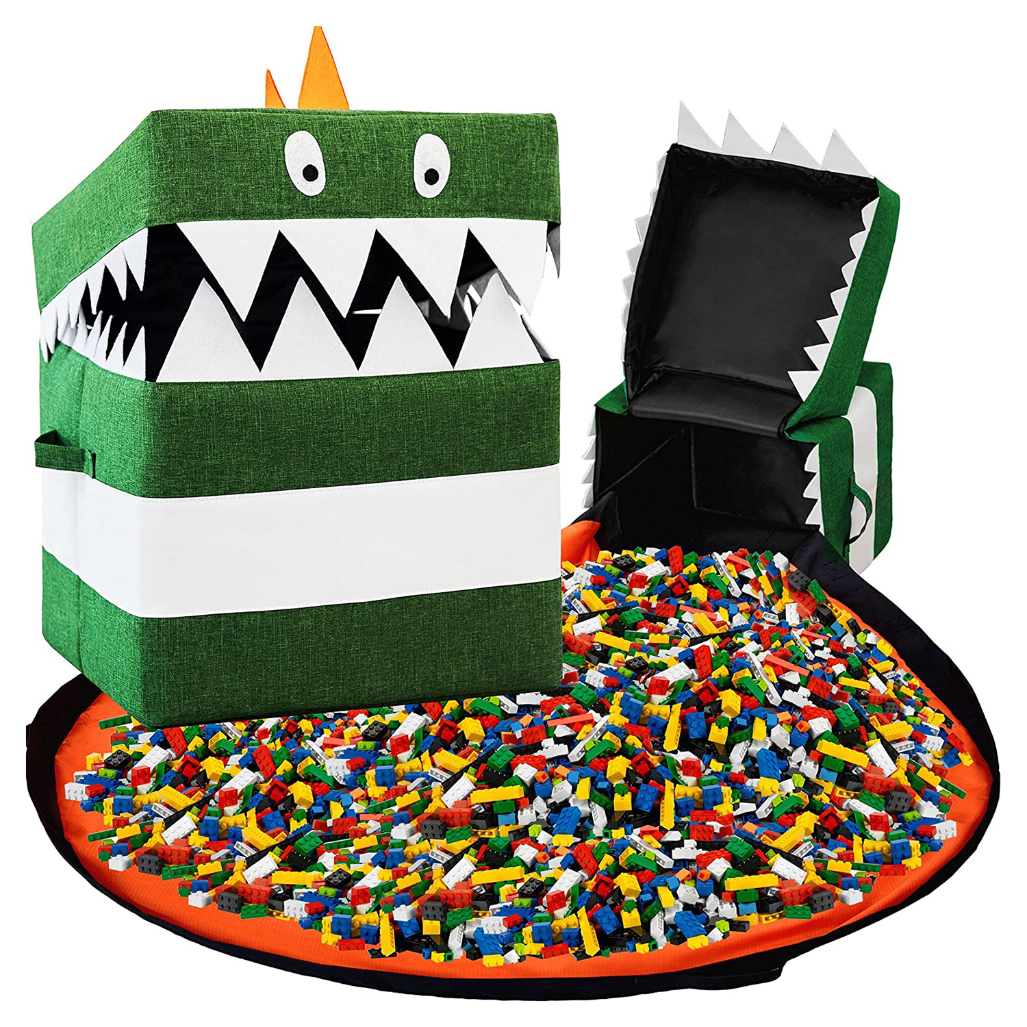 Best for Quick Lego Cleanup: Starsiko Fold-Up Play Mat With Storage Bin