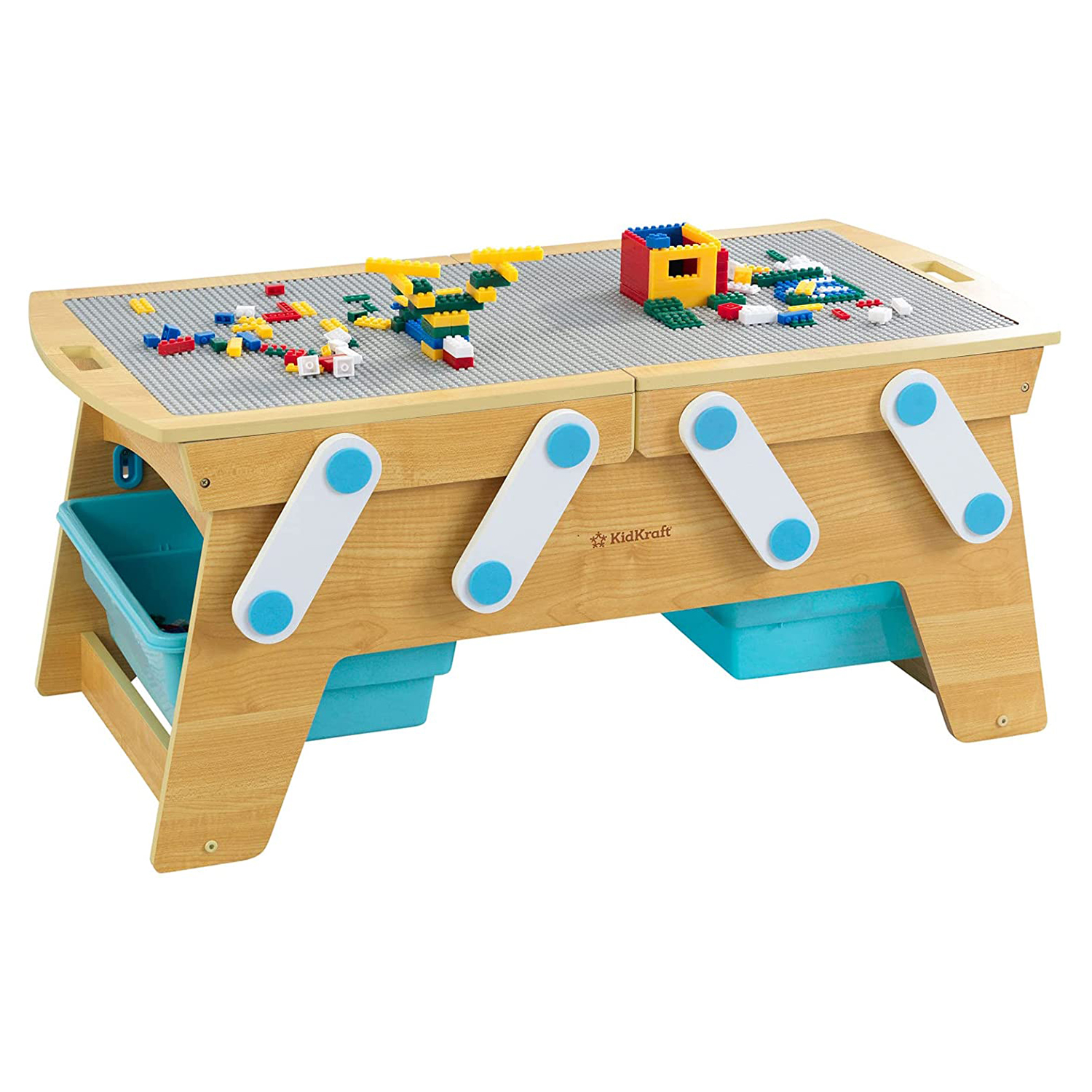 Best Lego Table With Storage for Sibling Play: KidKraft Building Bricks Play and Store Table