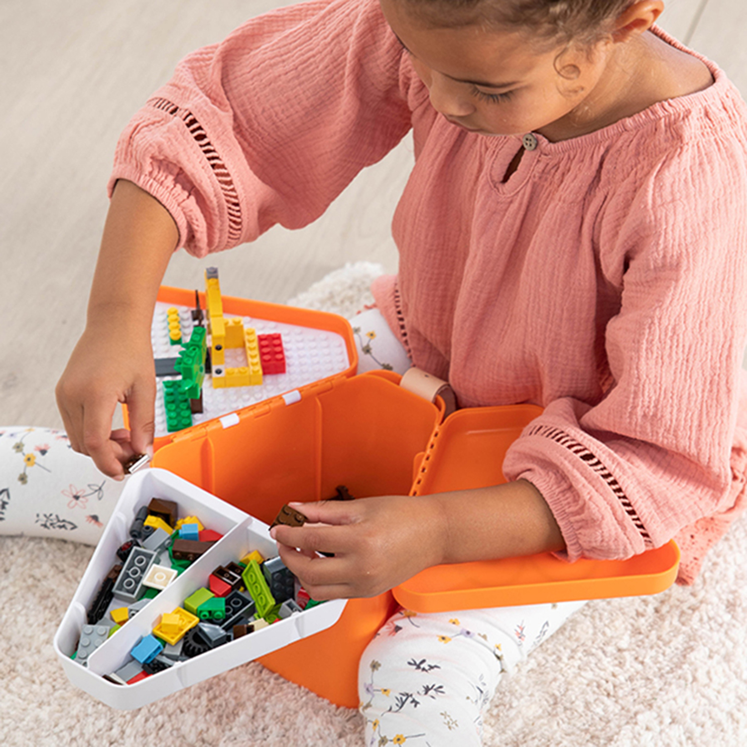 Best for Lego Storage on the Go: Teebee Play and Store Toy Box