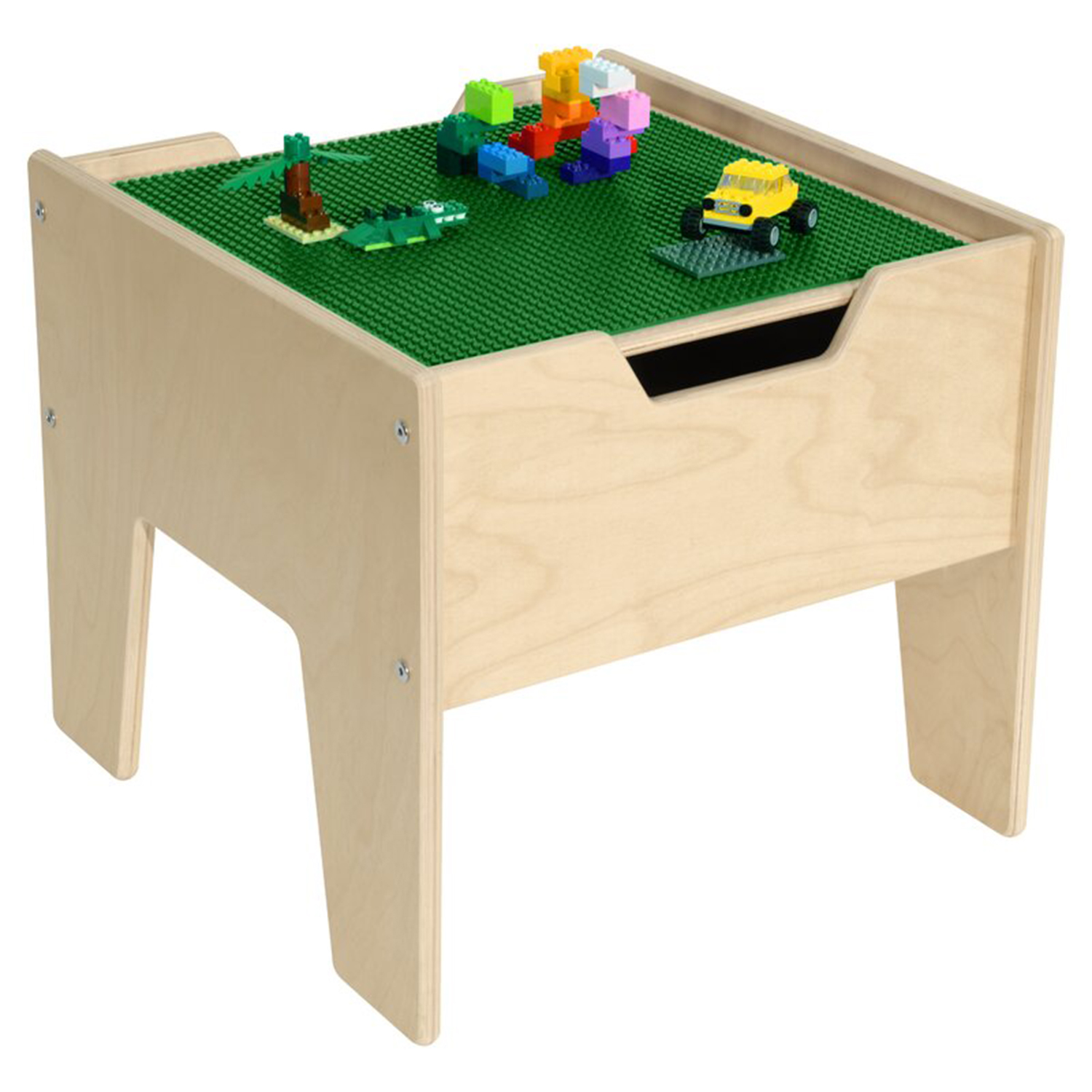 Best Lego Table for Toddler Play: Wood Designs Contender Kids Square Interactive Table