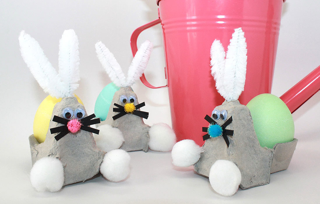 Recycle Your Egg Carton into a Bunny Easter Craft