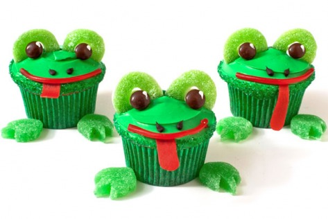 Frog Birthday Cupcakes Design