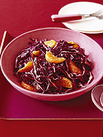 Winter Cabbage and Clementine Salad