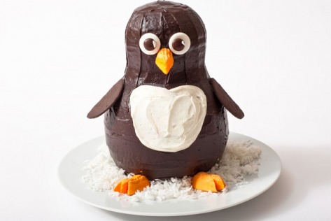 Penguin Birthday Cake Design