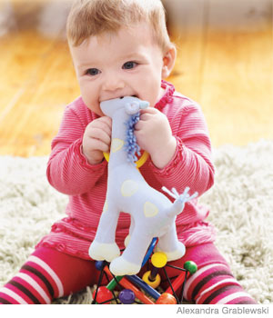 Weird things your baby puts in her mouth