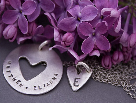 Mommy Daughter Pieces of Me Personalized Necklace Set