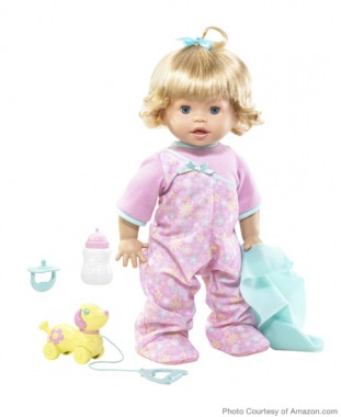 For Preschoolers: Little Mommy Walk 'N Giggle Doll