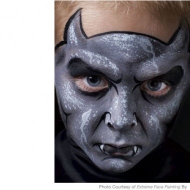 Spooky Gargoyle Face Painting Design