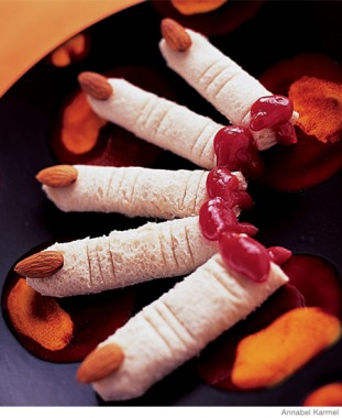 Easy Halloween Recipes Dead Man's Finger Sandwiches