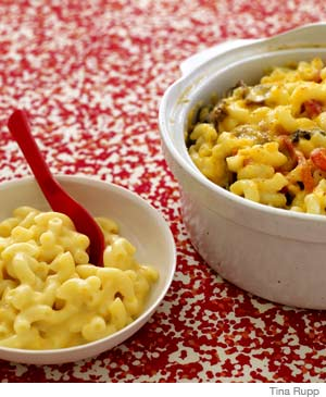 Mac'n'Cheese/ Mac'n'Cheese with Mushrooms and Red Peppers