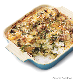 Potato-and-Brussels-Sprout Gratin