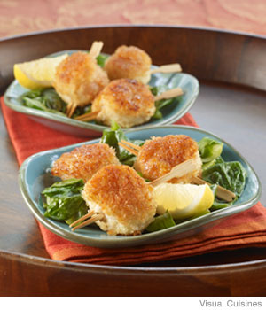 Panko-Crusted Scallops