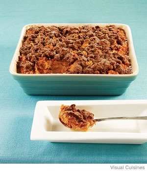 Sweet Potato Casserole with Gingersnap Streusel