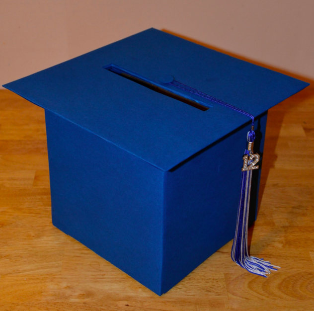 graduation party cap card box