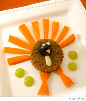 Carrot and Pumpkin Turkey Snack