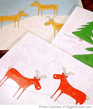 Homemade Christmas Paper Placemats