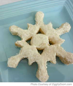 Christmas Snowflake Sandwich for Picky Eaters