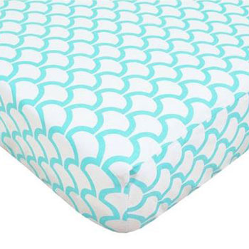 American Baby Company 100 Percent Cotton Percale Fitted Crib Sheet for Standard Crib and Toddler Mattresses