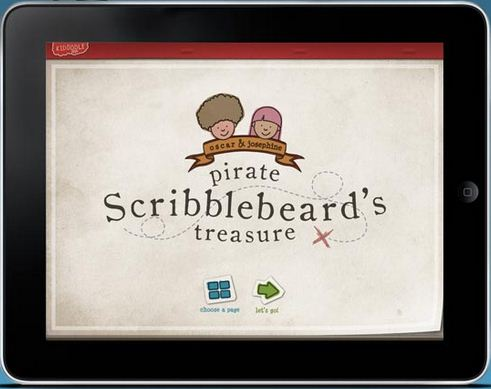 Screen Play App of the Week – Kidoodle: Pirate Scribblebeard's Treasure with Oscar & Josephine