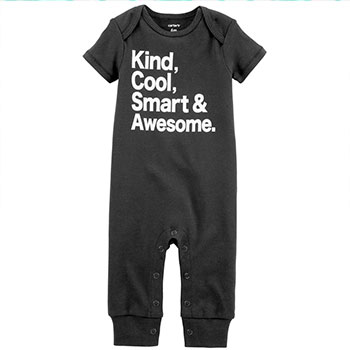 Baby Carter's Slogan Coverall