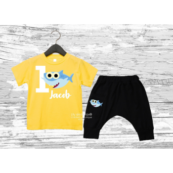 Baby Shark Birthday Outfit