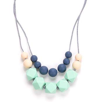 Bebe by Me 'Harper' Hard and Soft Cushy Beads All-in-One Teething Necklace