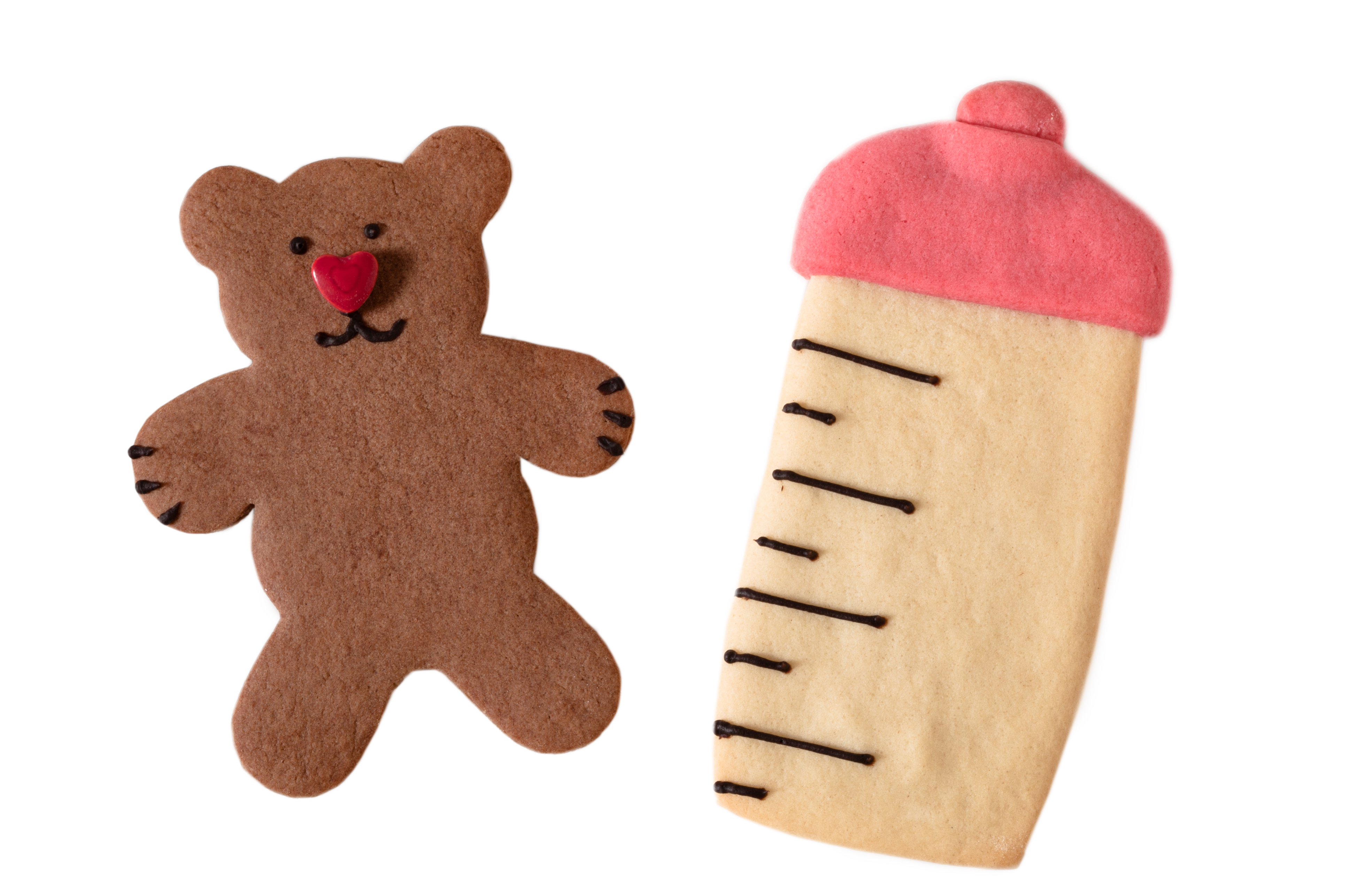 Baby Bottle and Bear Cookies