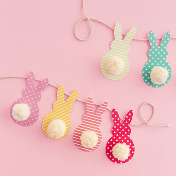 easy easter crafts bunny tail garland