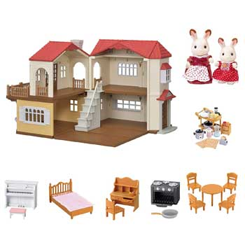 Calico Critters Red Roof Cozy Cottage Amazon